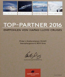 Hapag Lloyd Top Partner 2016